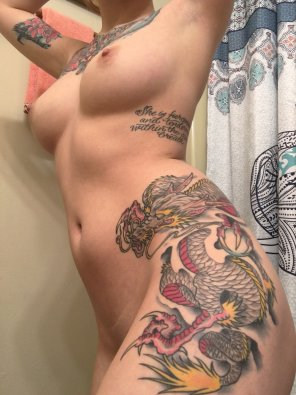 amateur photo The girl with the dragon tattoo