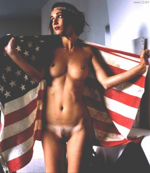 amateur photo Flag Girl