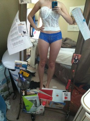 amateur photo Blue panties