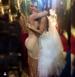 amateur photo Hugging the Bride
