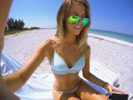 amateur photo Beach selfie