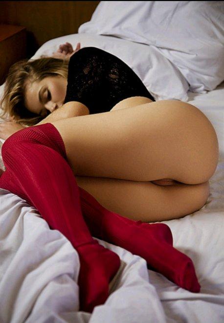 Red knee socks Porn Photo