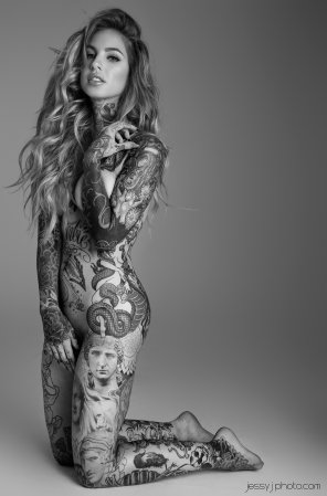 amateur photo Covered with tattoos