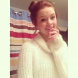 amateur photo Beautiful in white sweater