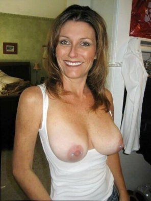 amateur photo Freckled Tits with Tanlines on MILF