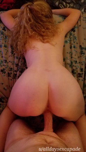 amateur photo Face down, ass up on my man's dick