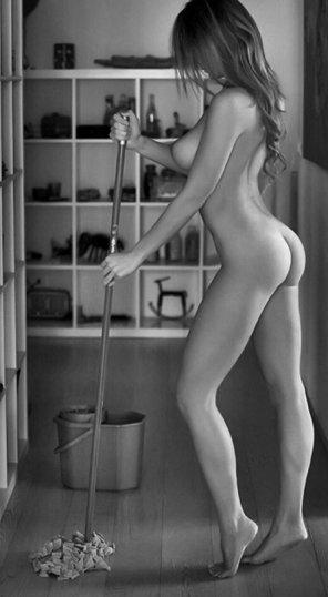 amateur photo Mop mop mop, all day long