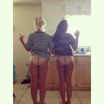 amateur photo Very white butts
