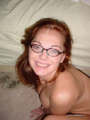 amateur photo Cute redhead in glasses