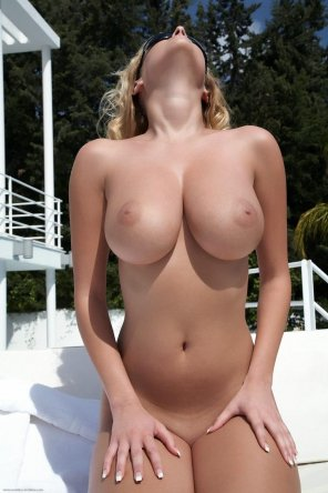 amateur photo What a rack she has!