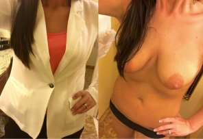 amateur photo Loooong day at the office today. Getting an outfit ready for work tomorrow. Which look do you like more?