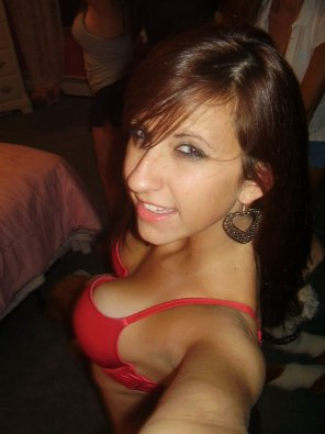 amateur photo Love a red bra