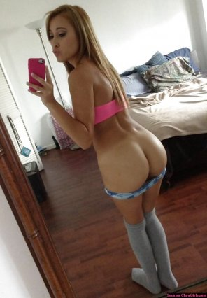 amateur photo Knee High Socks