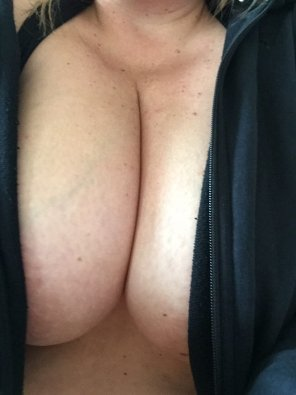 amateur photo Forgot my sports bra to go to the gym!