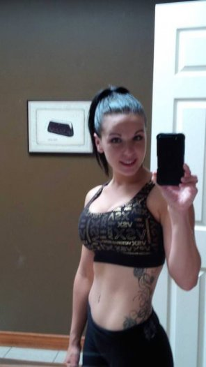 amateur photo Nice sports bra