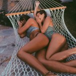 amateur photo Spooning in the hammock