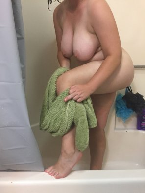 amateur photo Got a little sassy with my cameraman after my shower this mornin'