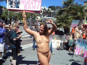 amateur photo Photo I took at the Body Freedom Parade in San Francisco, May 20, 2017