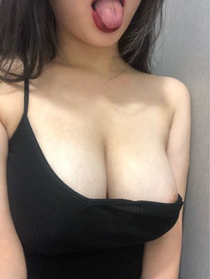 amateur photo Is this top too naughty for school? 🥺 [20F]