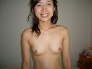 amateur photo Asian girl smiling