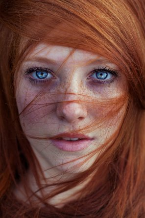 amateur photo Red Hair, blue eyes
