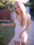 amateur photo Tight white dress