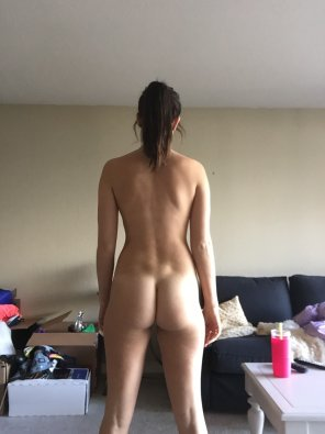 amateur photo She accidently packed all her clothes on moving day