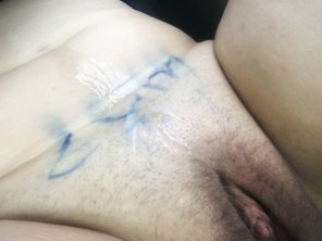 amateur photo Made Sure He Knew Where I Wanted To Be Cummed On