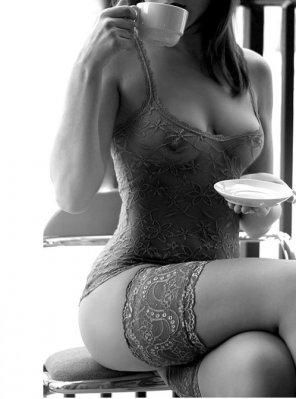 amateur photo Coffee and Lingerie