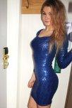 amateur photo Shiny blue dress