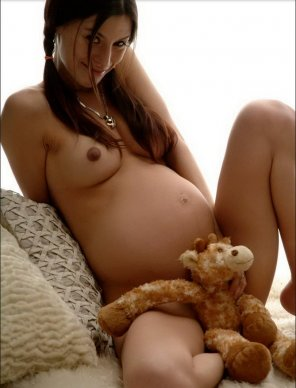 amateur photo With her favourite stuffed animal