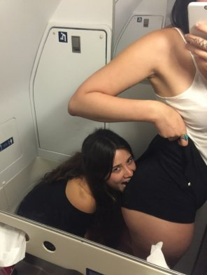 amateur photo airplane bathrooms.