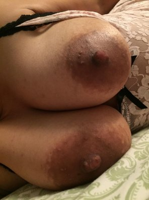 amateur photo My milf boobs. No [f]ilter.