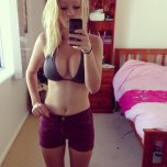 amateur photo bikini w/ shorts