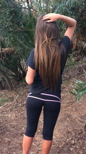 amateur photo Forest runs