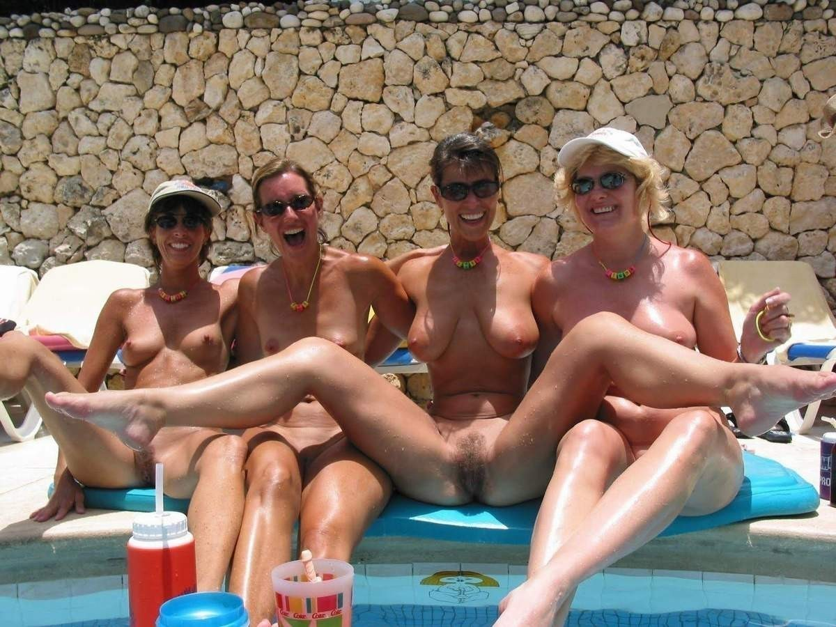 Nude pool milf public