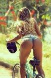 amateur photo On her bike