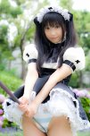 amateur photo Cute cosplay maid grinding