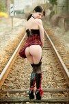 amateur photo On the railroad tracks