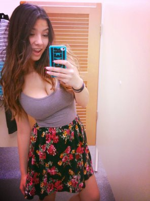 amateur photo Dressing room selfie