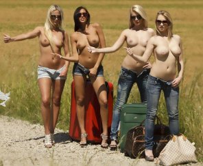 amateur photo Hot hitchhikers