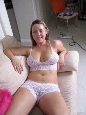 amateur photo White lingerie