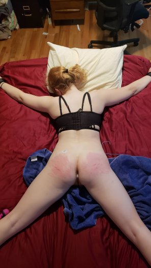 amateur photo Tied up and used