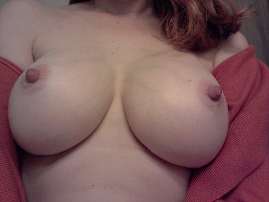 Pale, perky, slightly-veiny, very sexy, tits. Porn Photo