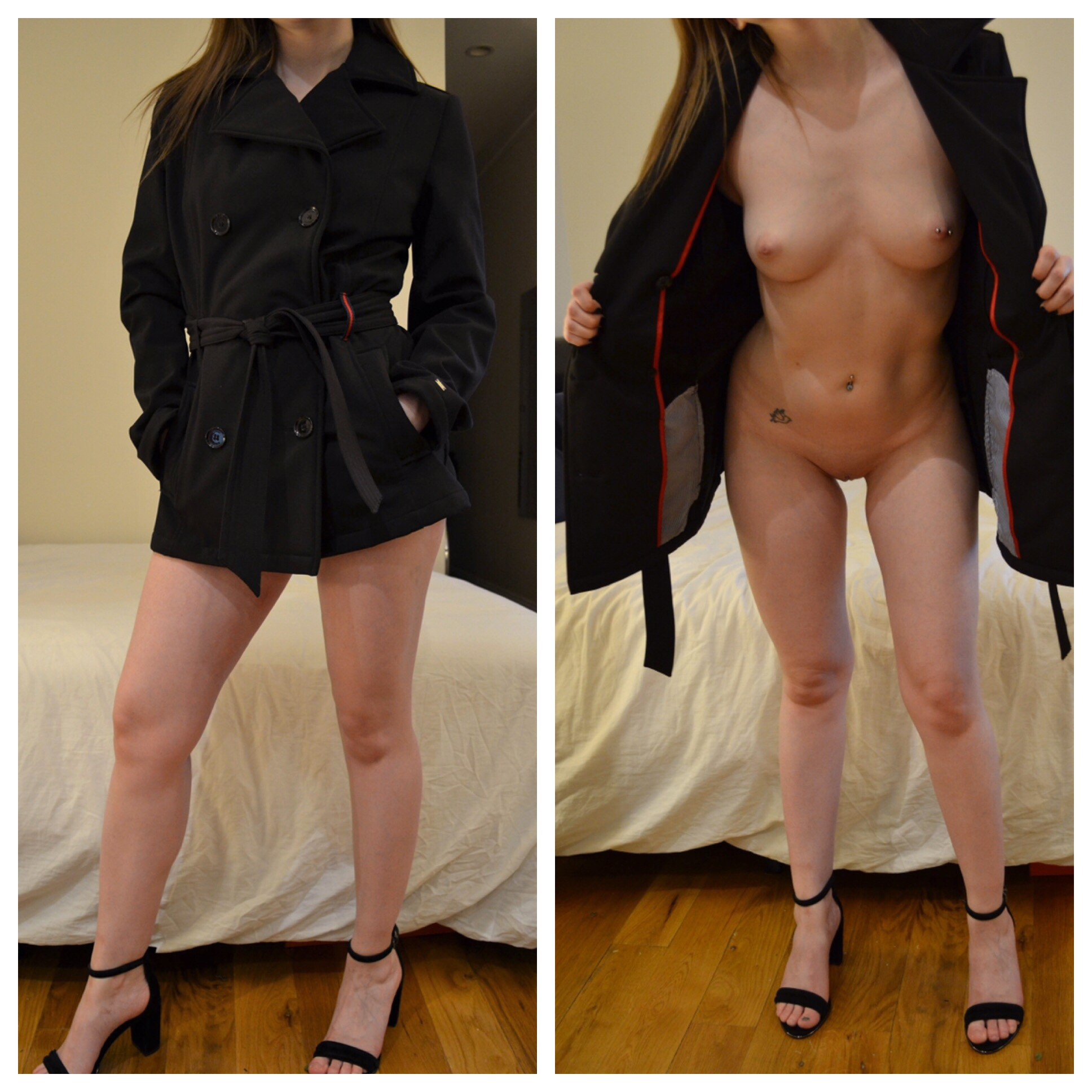 amateur nude girls trench coat flashing