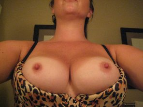 amateur photo Does this bra make my nipples look big?