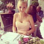 amateur photo Cute girl in a dress