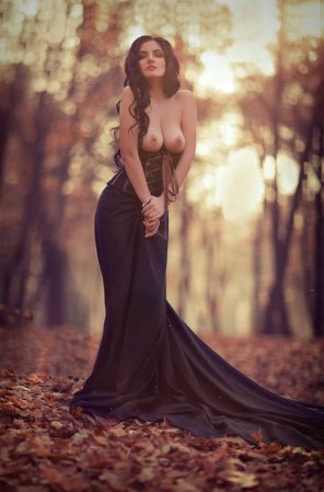 amateur photo Tess in autumn