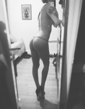 amateur photo black & white g string