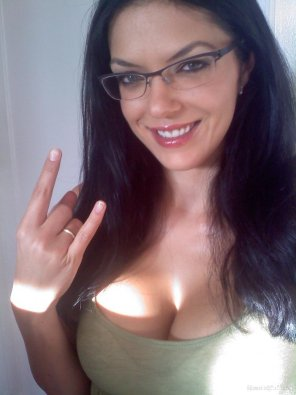 amateur photo Adrianne Curry rocking those glasses
